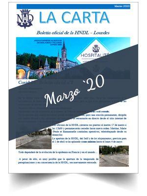 Muestra portada del boletín oficial de Ntra. Sra. de Lourdes