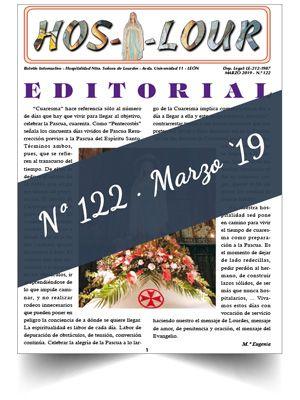 Muestra portada de la revista número 122 de la Hospitalidad de Ntra. Sra. de Lourdes (León)