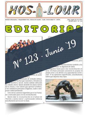 Muestra portada de la revista número 123 de la Hospitalidad de Ntra. Sra. de Lourdes (León)