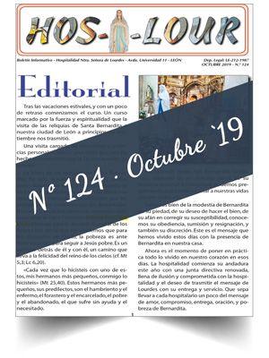 Muestra portada de la revista número 124 de la Hospitalidad de Ntra. Sra. de Lourdes (León)
