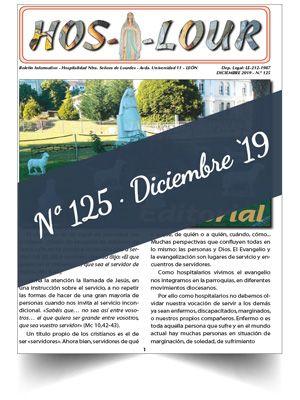 Muestra portada de la revista número 125 de la Hospitalidad de Ntra. Sra. de Lourdes (León)