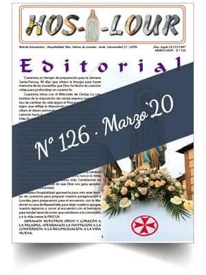 Muestra portada de la revista número 126 de la Hospitalidad de Ntra. Sra. de Lourdes (León)