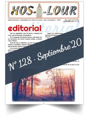 Muestra portada de la revista número 128 de la Hospitalidad de Ntra. Sra. de Lourdes (León)