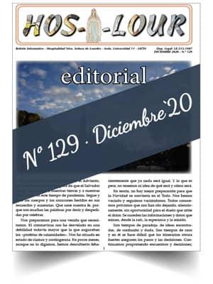 Muestra portada de la revista número 129 de la Hospitalidad de Ntra. Sra. de Lourdes (León)