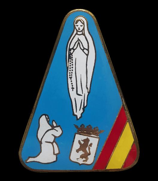 Muestra antiguo emblema de la Hospitalidad de Ntra. Sra. de Lourdes (León)