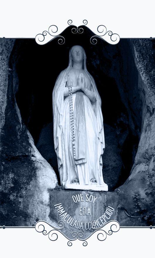 Muestra estatua de Ntra. Sra. de Lourdes