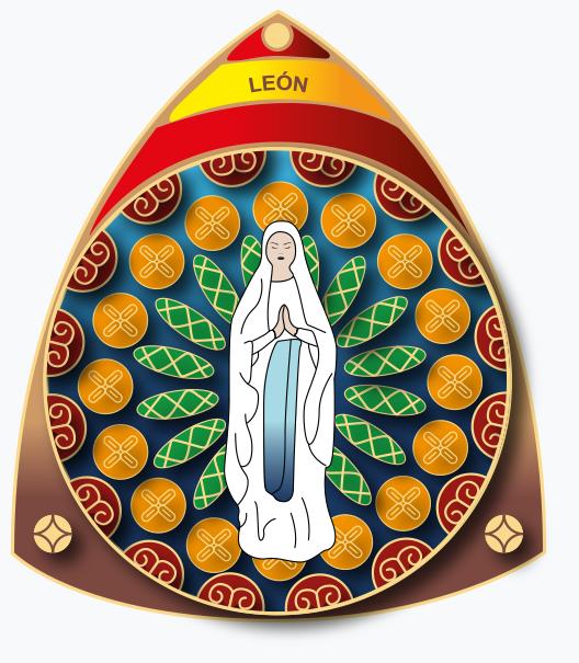 Muestra emblema de la Hospitalidad de Ntra. Sra. de Lourdes (León)