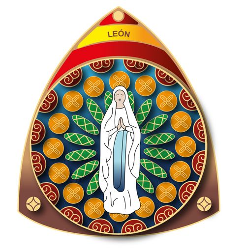 Muestra insignia de la Hospitalidad de Ntra. Sra. de Lourdes (León)