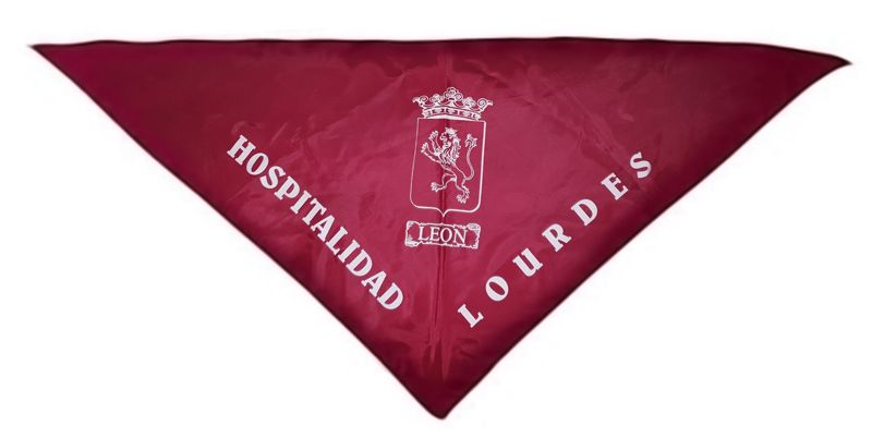 Muestra el pañuelo de la Hospitalidad de Ntra. Sra. de Lourdes (León)